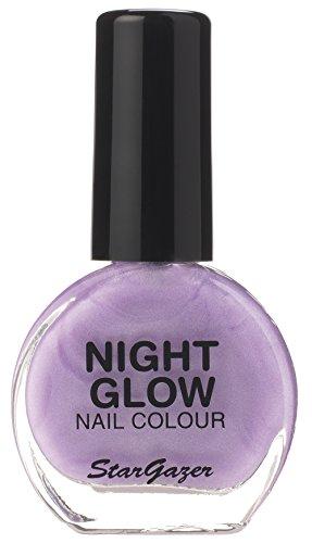 Stargazer Products Glow In The Dark Nagellack Glow Flieder, 1er Pack (1 x 10 ml)
