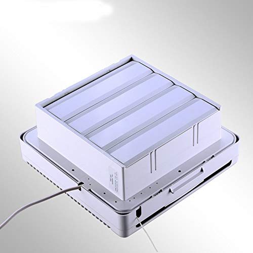 Uitlaatventilator Home Kitchen Afzuigkap Ventilator Muur Glass Installatie 30W Silent Fan,White,7inch