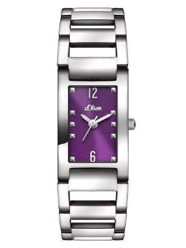 s.Oliver Damen-Armbanduhr XS Analog Quarz Edelstahl SO-2803-MQ