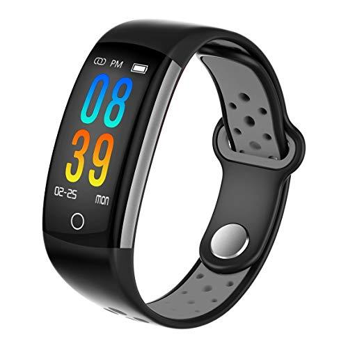 ngzhongtu Q6 Farbdisplay Armband Pulsoximeter Smart Armband - Schwarz Grau