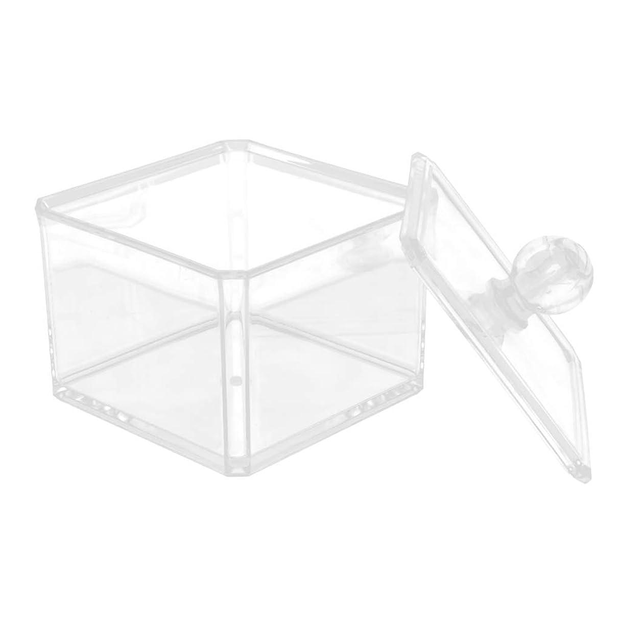 受け皿石化する先にD DOLITY 収納ケース クリア 小物入り 綿棒 化粧パッド コットンスワブ 収納ボックス 2サイズ選べ - 9.4x7cm