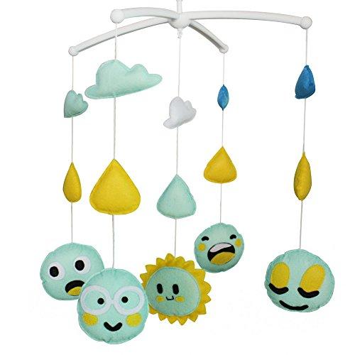 Nouveau-né musical suspendu jouet crèche bébé mobile lit bébé pour 0-2 ans, MR42
