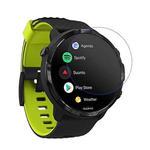 LOKEKE Premium Tempered Glass Screen Film Protector for Suunto 7 Watch, Made from Real Glass