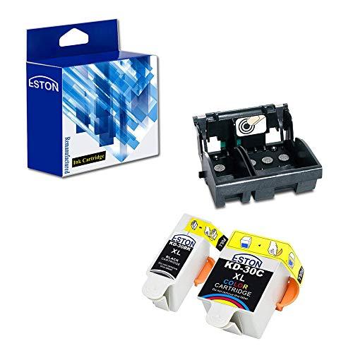ESTON Remanufactured Kodak 30 Printhead for ESP 2150 ESP 2170 ESP 3.2 ESP C310 ESP C315 and 2 Pack Compatible Kodak 30XL Ink Cartridge (Non-OEM)