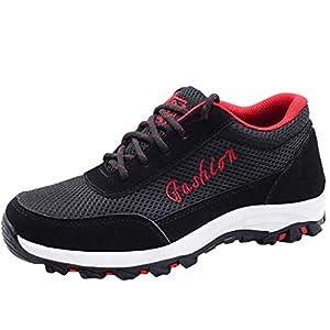 OPAKY Zapatos de Seguridad Hombres Botas de Seguridad para Hombre Ocio Zapatos con Punta de Acero Zapatos de Trabajo Zapatillas de Tobillo Zapatos de Senderismo