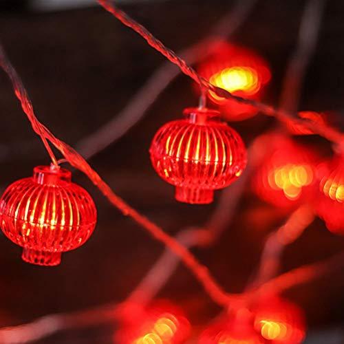 VALICLUD 2M Chinesische Lampion lampe lichterkette Chinesisches Neujahr Frühlingsfest Chinesische Lampions Hängende Girlande für Home Party Feier Dekoration Requisiten(Draht zufällige Farbe)