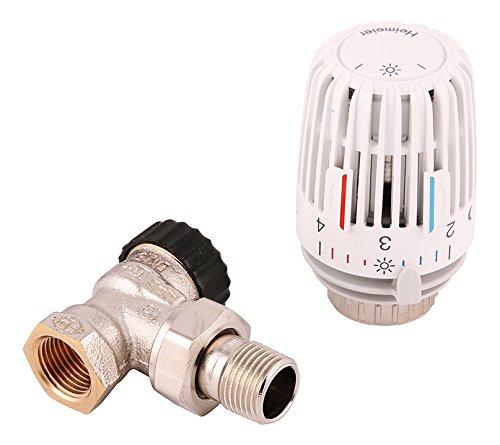 Heimeier 27118 9 Komplettset 1/2 Zoll, Thermostatkomplettset-Eckform