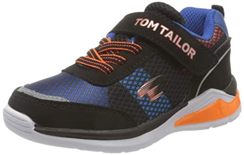 Tom Tailor 8070101, Chaussures de Cross Garçon Mixte Enfant, Multicolore Black Orange Royal 02627, 28 EU