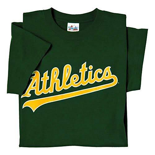 Majestic Men's Cool Base MLB Evolution Shirt Oakland Athletics Large Green