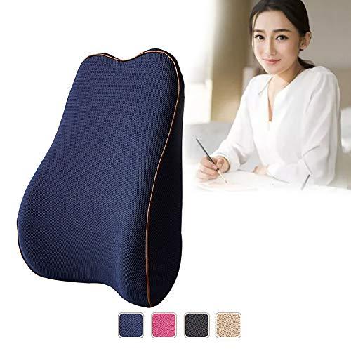 CRXL shop-elektrische dekens Lumbar Kussen - Wasbaar Polyester Cover en verstelbare riem, Comfortabele ondersteuning in uw auto of bureaustoel, Verbetering houding in No Time, Memory Foam