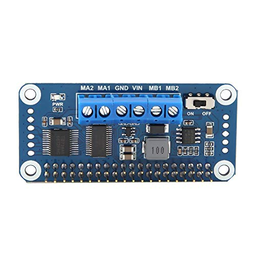 Cocosity Módulo de Controlador de Motor, Controlador de Motor, Puente en H Doble de 2 vías PWM 2B / 3B / 3B + Apto para Raspberry Pi Zero Fit Zero WH Zero W