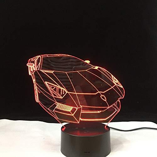shiyueNB Sportwagen 3D LED Verlichting Kleurrijke Geleidelijke Verandering Illusion Lampe Touch Afstandsbediening Kleine Nachtlampje Décor À La Maison