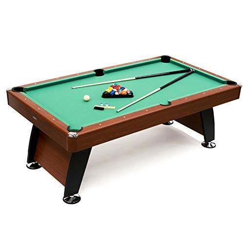 Devessport - Mesa de Billar Semi Profesional Alejandría - Fácil Montaje - Incluye niveladores de Patas - Ideal para Jugar con Amigos - Medidas: 212 x 118 x 78