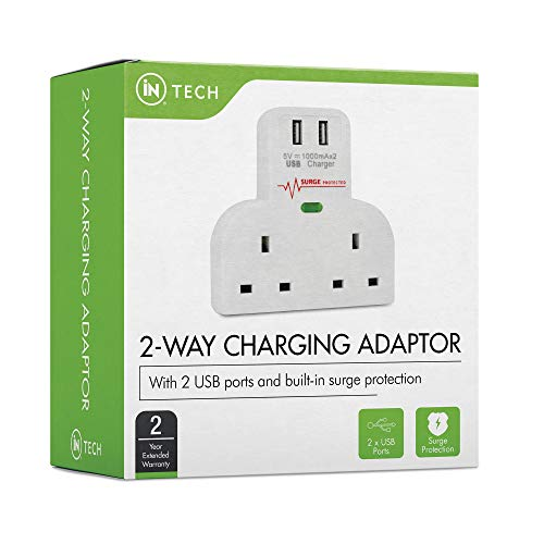 iN-TECH-2-Way-Plug-2-USB-Port-Adaptor-for-TV-Desk-Home-and-Office-with-Surge-Protector-Over-Current-Protection-Short-Circuit-Protection-Adapter-for-Smart-Phones-iPhones-Samsung-iPads-Tablets