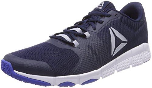 Reebok Herren Trainflex 2.0 Fitnessschuhe, Blau (Collegiate Navy/Acid Blue/Cloud Grey/WHI 000), 44.5 EU