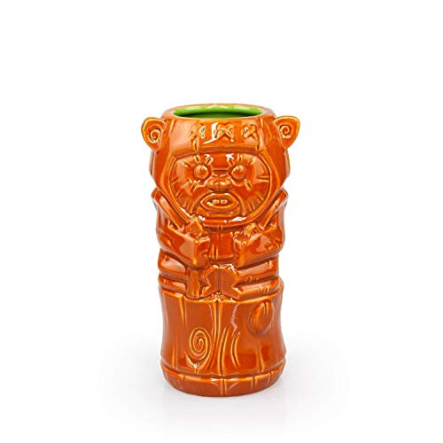 Geeki Tikis Star Wars Wicket Ewok Mug   Official Star Wars Collectible Tiki Style Ceramic Cup   Holds 14 Ounces