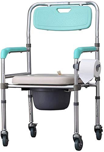 Folding Kommode Chair Alten Menschen Schwangere Frauen WC Hocker Verstellbare Höhe Bad Bad Stuhl (Vier Runden)