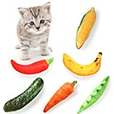 Woiworco 6 Pack Catnip Toys for Indoor Cats, Kitten Toys for Cat Toys Supplies, Catnip Cat Toys - Playing Chewing Keep Teeth Cleaning Relieve Anxiety