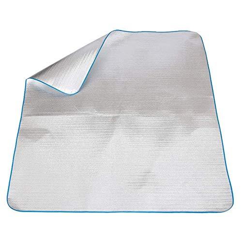 Al Aire Libre Alfombra de Picnic Impermeable Picnic Manta Playa Estera de Película de Aluminio de Doble Cara Estera para Acampar de Hierba a Prueba de Humedad Manta Plegable Manta de Estera de Playa