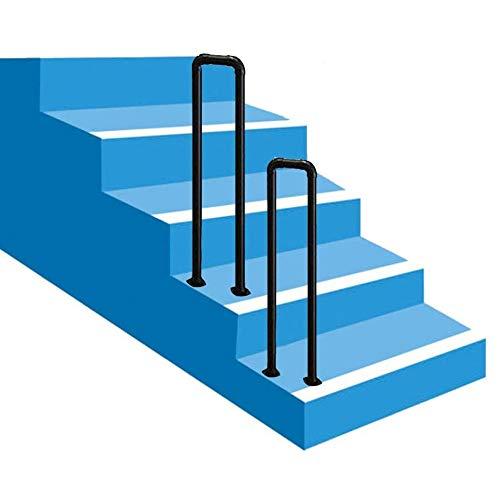 Pasamanos De Hierro En Forma De U, Barra De Soporte Antideslizante para Pasillos, para Barandillas De Escaleras Interiores Y Exteriores, Fácil De Instalar, 1 Paquete (Size : 50cm)