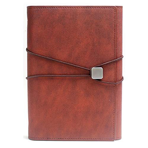 gszfsm001 - Correa para cuaderno de tres hojas de hojas A5, cuaderno A5, cuaderno de notas escolar, diario, bloc de notas, bolígrafo Core agenda de escritorio multifuncional