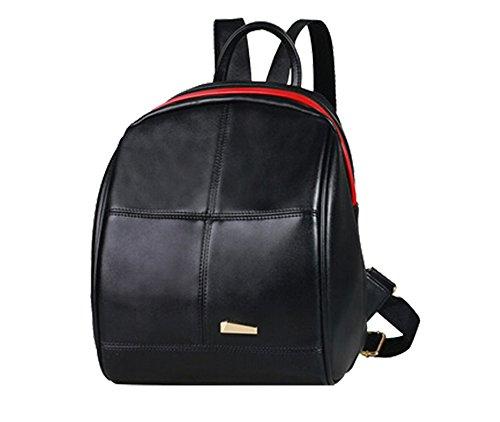 FAIRYSAN Women Vintage Leather Fahion College PU leather Backpack Rucksack Unisex Satchel School Bags Casual Daypack Black