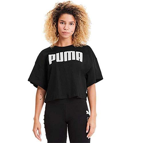 PUMA Rebel Fashion tee Camiseta, Mujer, Negro, M