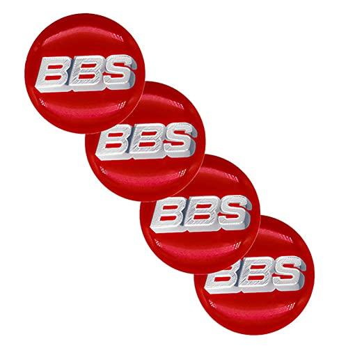 WFLOV Pegatinas De Cubierta De Tapas De Cubo De Centro De Rueda con Emblema De Logotipo De Coche 65MM Adecuadas para BBS, Accesorios De Estilo De Coche, 4 Piezas