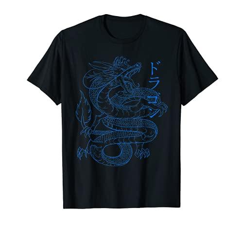 Japanischer Drache – Japanischer Kanji Kalligraphie Cool Dragon T-Shirt