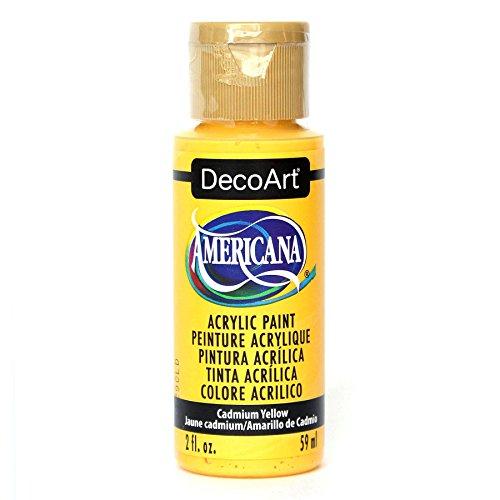 DecoArt Americana Acrylic Paint, 2-Ounce, Cadmium Yellow