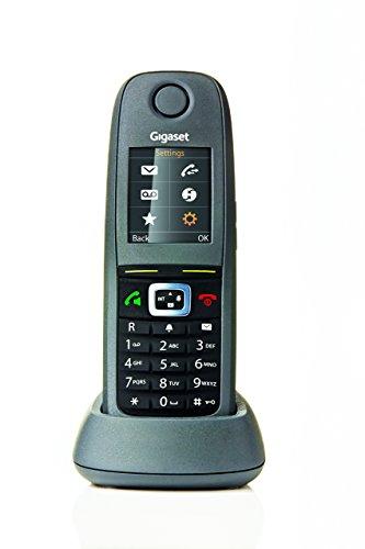 Gigaset R650H PRO - robustes Telefon für Kommunikation in lauter Umgebung - DECT Telefon gemäß IP65 - staubabweisend, wasserdicht, stoßfest - schnurloses Mobilteil, anthrazit