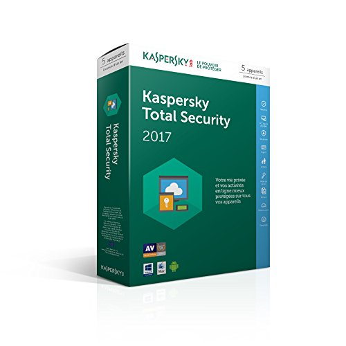 Kaspersky Total Security 2017   5 postes   1 an   PC/Mac/Android/iOS   Téléchargement