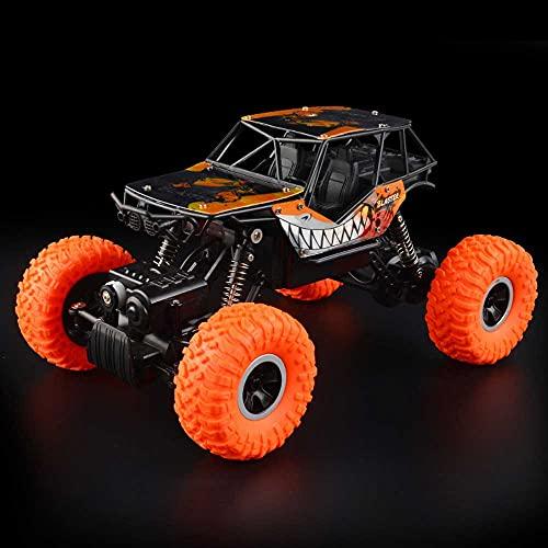 Weaston 1/16 Bigfoot Off-Road Stunt Car, 2.4GHz All Terrains Juguete eléctrico RC Monster Crawler Trucks, Vehículo RC de Carga con Motor Potente de 4 Canales, Cumpleaños de Navidad para niños Niño