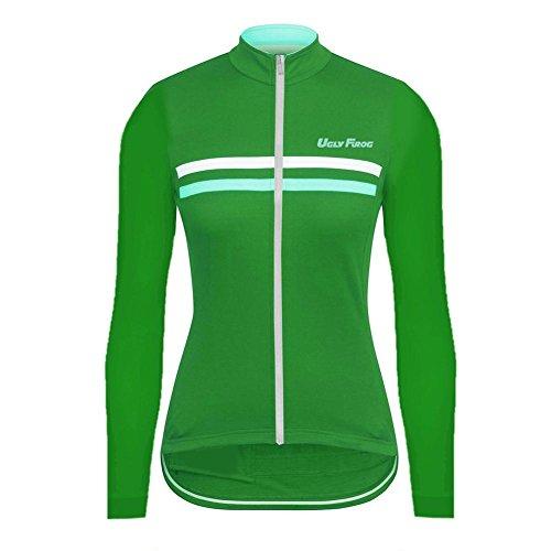 Uglyfrog Langarm Winterjacke Lange Ärmel Fleece Thermisches Jersey Frauen Mountainbike Jersey Shirts Lange Rennrad Kleidung MTB Tops Sportbekleidung