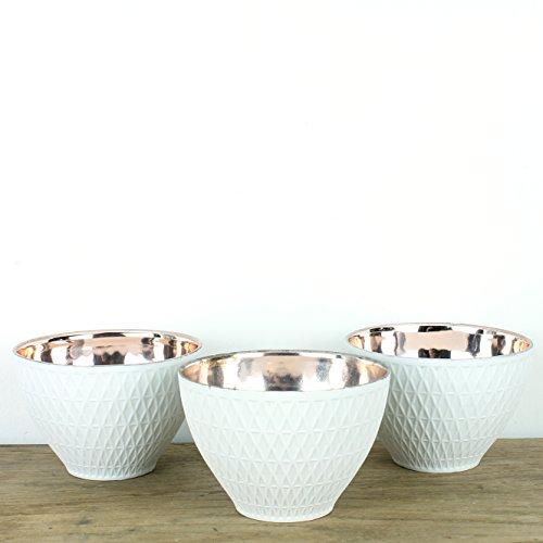 Boutique Cuivre Photophore en céramique (Lot de 3)