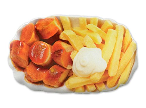Close Up Currywurst & Pommes Kissen (30x 50cm)