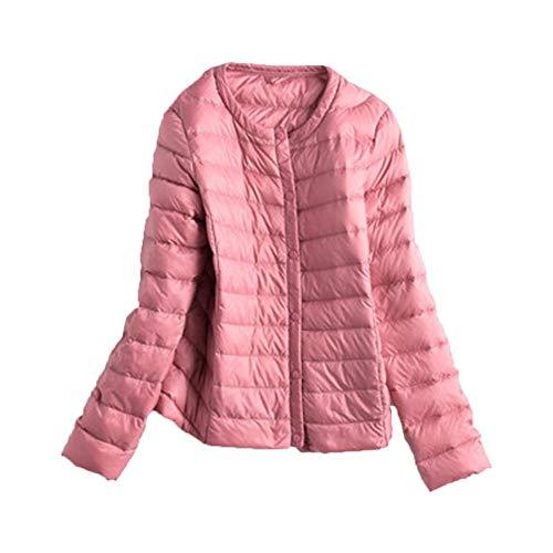 RYDRQF Chaqueta de plumón para mujer, ligera, para invierno, Mujer, rosa, medium