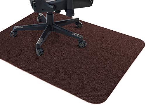 Bürostuhl-Matte, Hartbodenschutz, rutschfeste Schreibtischstuhlmatte, rechteckige Bodenschutzmatte für Zuhause, Holzboden, Teppich, Büro (braun, 140 x 89 cm)