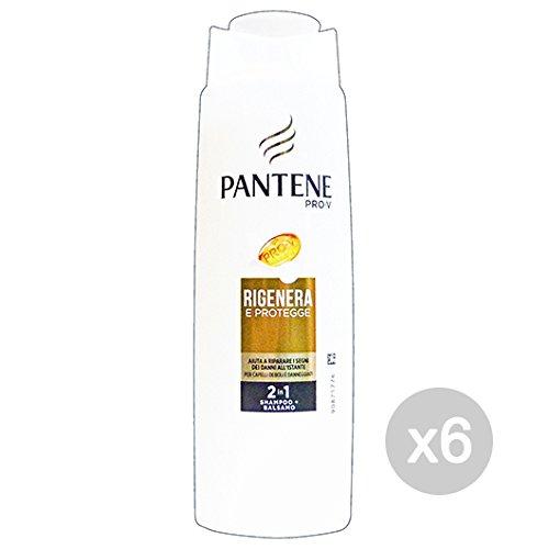 Set 6 PANTENE Shampoo 2/1 Rigenera & Protegge 250 Ml Prodotto Per Capelli