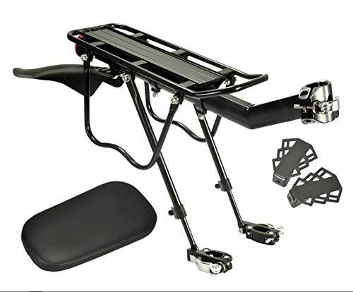 ETXP Portaequipajes trasero para bicicleta con guardabarros y reflectante, aleación de aluminio de aluminio Pannier Carrier (color: negro Quick)