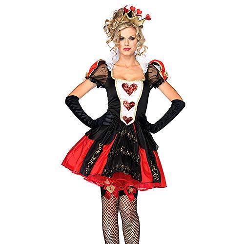 OuYou Disfraz de Alicia en el país de Las Maravillas de la Reina de los Corazones, Lady, Medium
