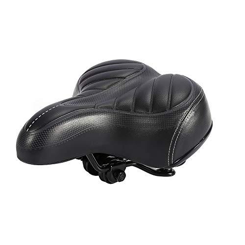 Soulong Fietszadel, hoog achterpootzadel met dubbele veer, MTB-zadel, zacht en comfortabel, zadel voor racefietsen, mountainbikes en stadsfietsen
