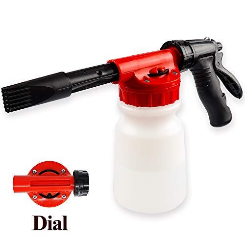 YunGuoGuo Foam Cannon for Garden Hose,Adjustment Ratio Dial Foam Gun,Car Wash Soap Spray Foamer