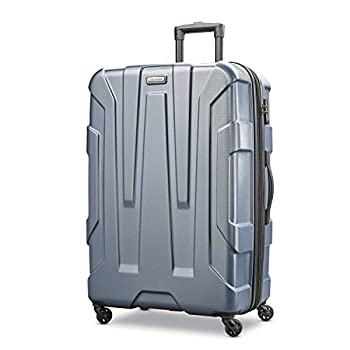 Samsonite Centric Hardside Expandable Luggage with Spinner Wheels Blue Slate Checked-Large 28-Inch