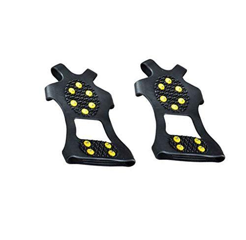 FuyongKang Spikes für Schuhe Anti Rutsch Schuhspikes, Ice Klampen Schnee Spikes Schuhkrallen, mit 10 Spikes Steigeisen, für Schuhe im Winter Outdoor Schuh Spikes für Bergschuhe/Schuhkrallen/Eisspikes