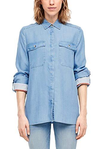 s.Oliver Damen 14.001.11.2837 Bluse, Blue, (Herstellergröße: 38)