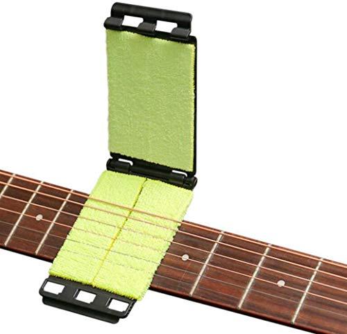 Limpiador de cuerdas de diapasón de guitarra, herramienta de mantenimiento de cuerdas de diapasón de guitarra multifunción, eliminación de manchas de aceite y pulido de óxido para mandolina y ukelele