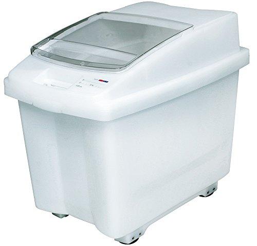 100 Liter Futtermittelbehälter/Vorratsbehälter für Trockenfutter, mit Rollen, BxTxH 465x705x580 mm