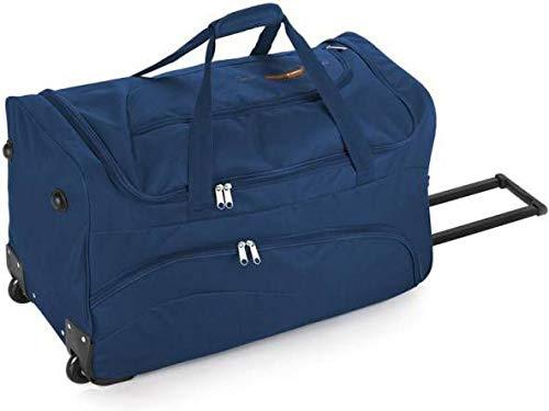 Gabol - Week | Bolso con Rueda de Viaje Mediano de Tela de 60 x 36 x 30 cm con Capacidad para 65 L de Color Azul
