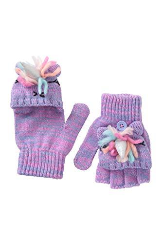 Mountain Warehouse Unicorn Kinder-Strickhandschuhe - leichte, warme Kinder-Handschuhe für Mädchen und Jungen, pflegeleicht - ideal als Wintergeschenk und auf Reisen Rosa Einheitsgröße